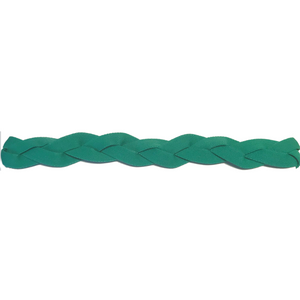 Green braided non slip athletic sports headband