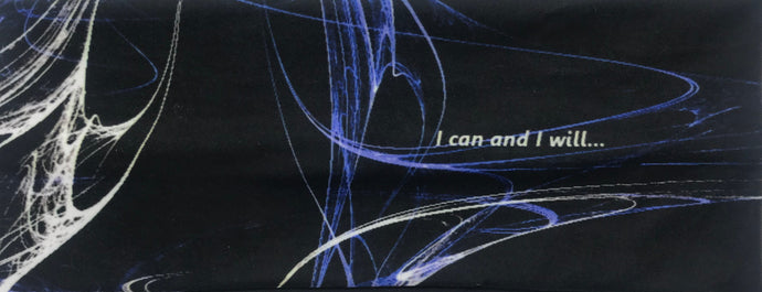 Inspiring biker / riding headband - I can and I will