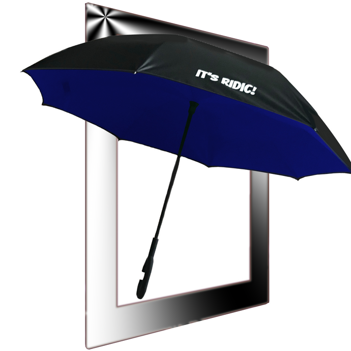Double Layer Windproof Inverted Umbrella with C-Shaped Handle
