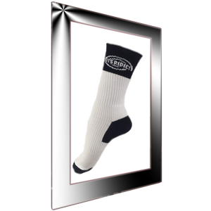 White and Black Crew Socks with Arch support
