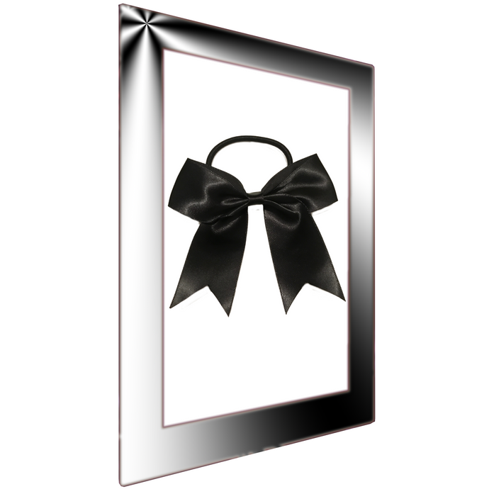 Black Cheer Bow Ponytail holder