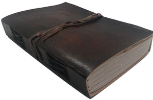 Leather Journal - Handmade Antique Writing Notebook- Daily Notepad, Art Sketchbook or Travel Diary for Men & Women