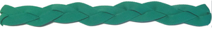 Green Non Slip Sports Headband with silicone grip