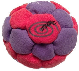 Red and Purple 32-panel Sand Hacky Sack