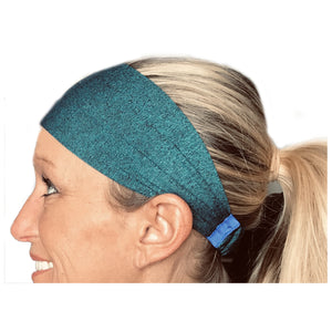 Royal Blue / Teal Sweat Absorbing Stretch Athletic Sports Headband