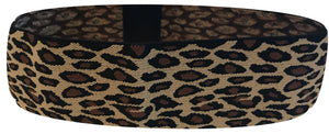 It's Ridic leopard print elastic sports sweatband. The perfect headband for Yoga