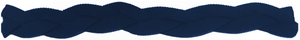 Navy Blue Non Slip Braided Athletic Sports Headband with silicone grip