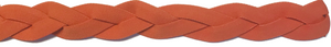 Orange non slip athletic headband with silicone grip.