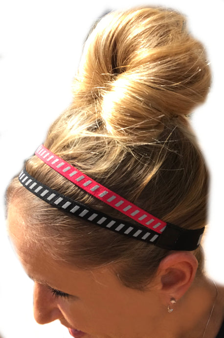 IT'S RIDIC! No Slip Grip/Non-Slip Sports/Athletic Reflective Sports Headband for nighttime exercise