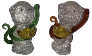 Crystal Monkey Figurine - Based on folklore; the crystal monkey makes the perfect gift for a baby shower