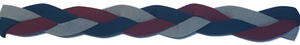 Maroon, Navy blue, and Grey Non slip athletic headband.