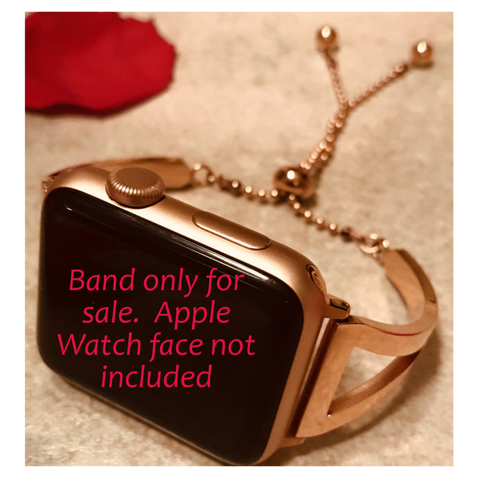Adjustable dressy bangle cuff bracelet - compatible with Apple watch Band 42mm. - for those fancy dinner dates.