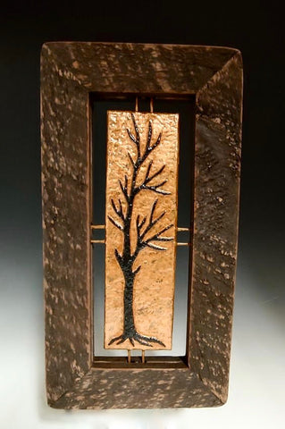 Tall Copper Tree Tile