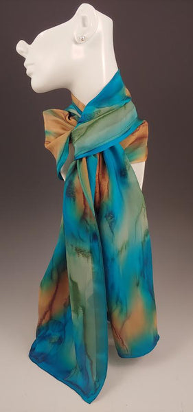 Turquoise Silk Scarf