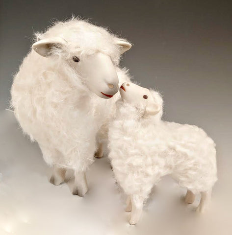 Kissing Cotswold Sheep Set