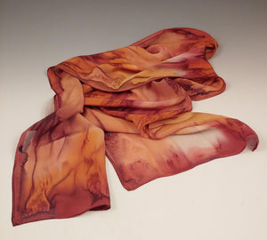 Autumn Tones Silk Scarf