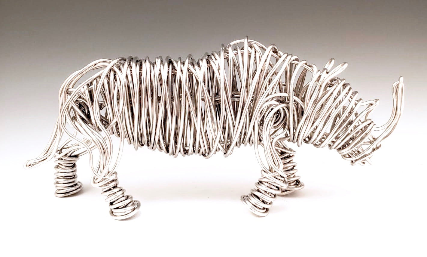 Small Rhino Metal Sculpture