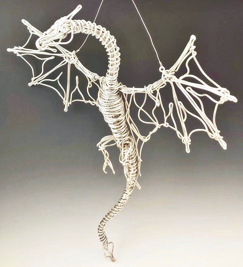 Flying Dragon Metal Sculpture