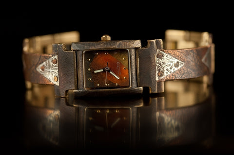 Brass Rectangle Watch