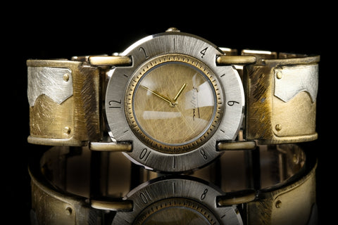 Brass Full Moon Wide Watch