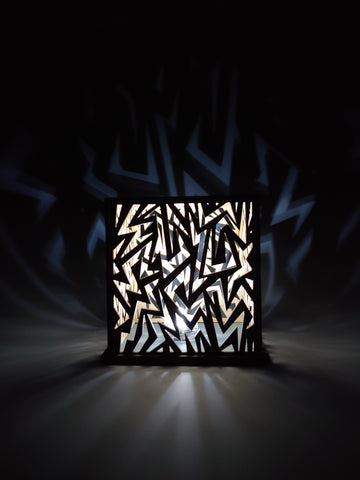 Geometric Wood Luminary