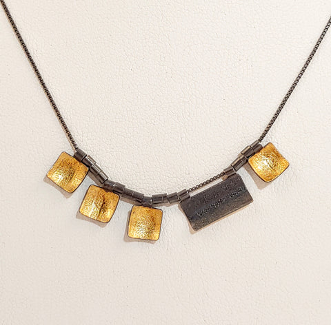 Squares & Rectangle Necklace