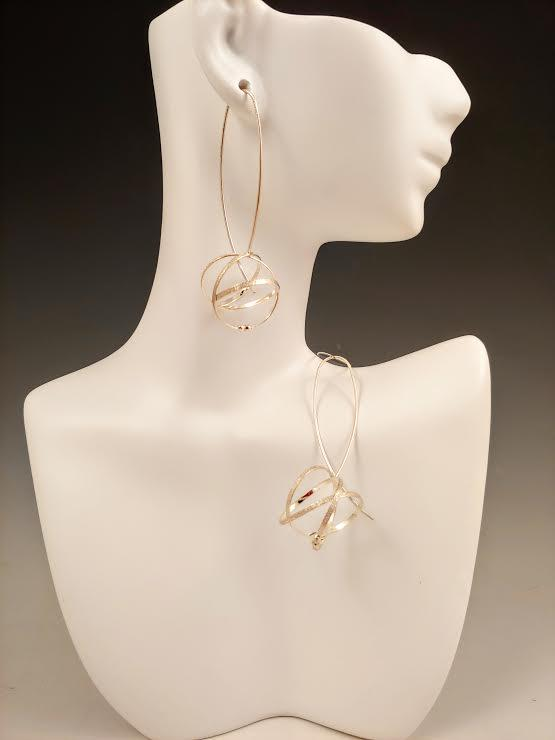 Large Mobius Wishbone Earring