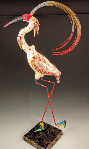 Ibis Bird Sculpture