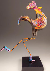 Banty Rooster Bird Sculpture