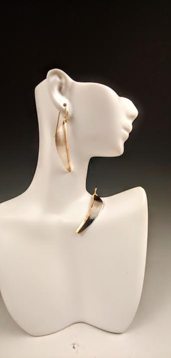 Mixed Metal Matte Earrings
