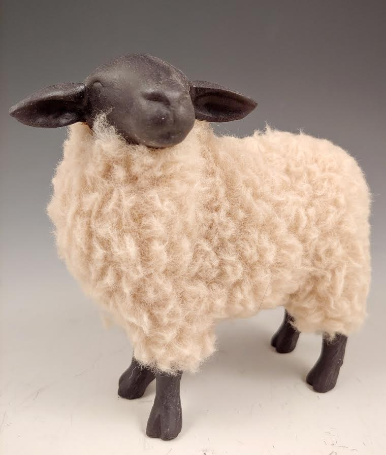 Suffolk Sheep with Turned Head