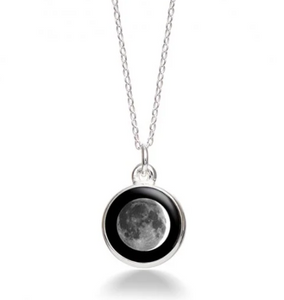 MoonGlow Waxing Crescent Necklace