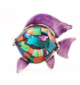 Dichroic Fish Sculpture