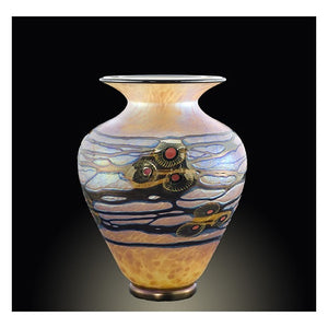 Medium Gold Arts and Crafts Vase