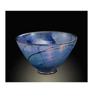 Medium Blue Luster Bowl