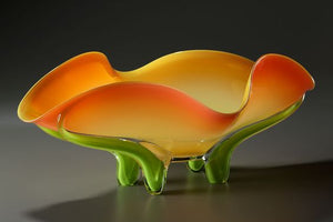 Apricot Tropical Glass Bowl