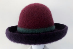 Purple/Jade/Plum Striped Hat