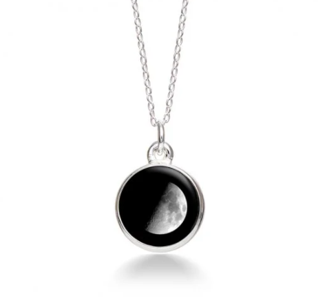 MoonGlow Waxing Gibbous Necklace