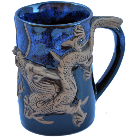 Blue Asian Dragon Tankard