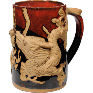 Red Asian Dragon Tankard