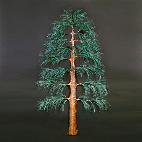 Tall Pine Tree Wall Sculpture