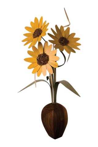 Three Sunflower Vase