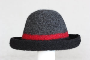 Black/Red Striped Hat