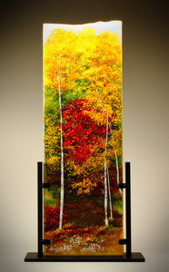 Color of Autumn Glass Sculpture