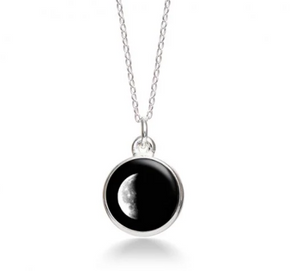 MoonGlow Waning Crescent Necklace