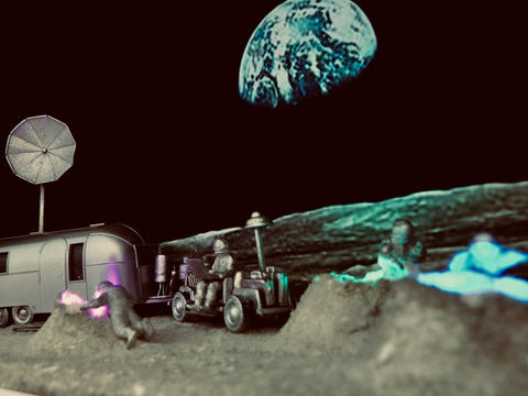 Airstream on the Moon Diorama