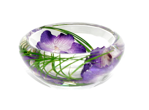 Purple Vanda Orchid Bowl