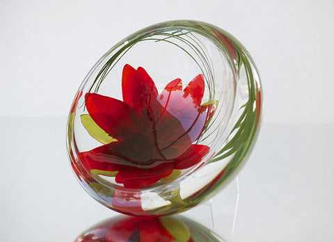 Red Lotus Flower Bowl