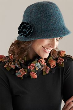 Teal Cloche Hat
