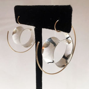 Silver & 14k Gold Fill Earrings